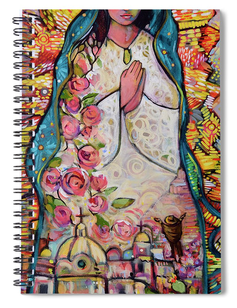 Jen Norton Spiral Notebook featuring the painting Guadalupe by Jen Norton