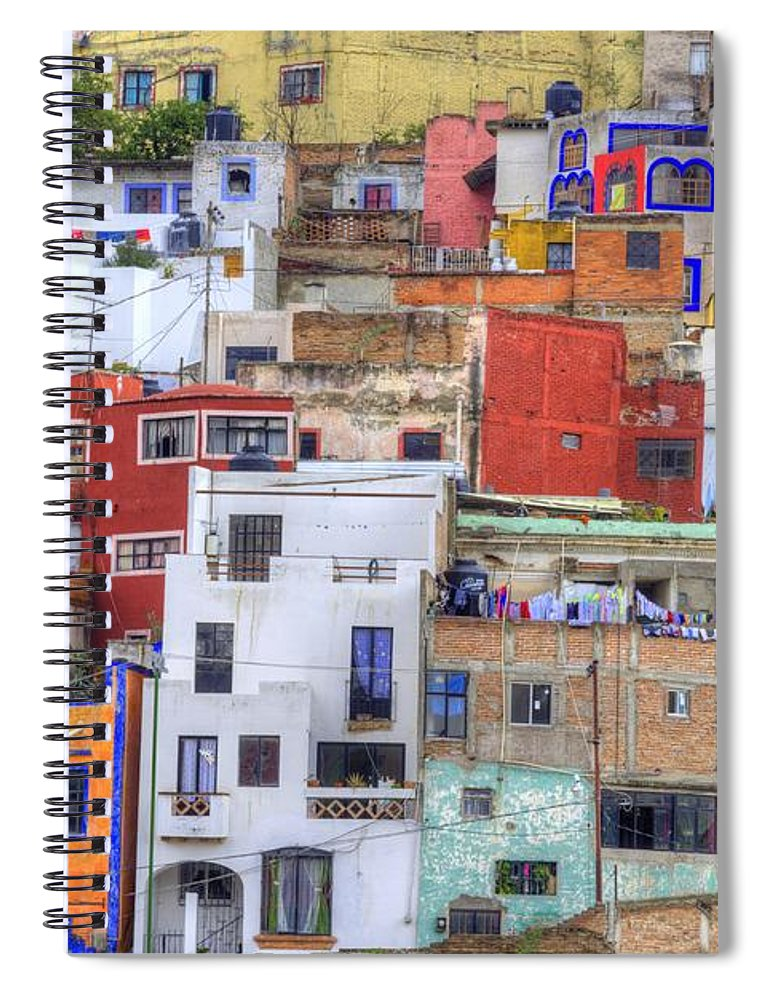 Architecture Spiral Notebook featuring the photograph Guanajuato Jumble by Juli Scalzi