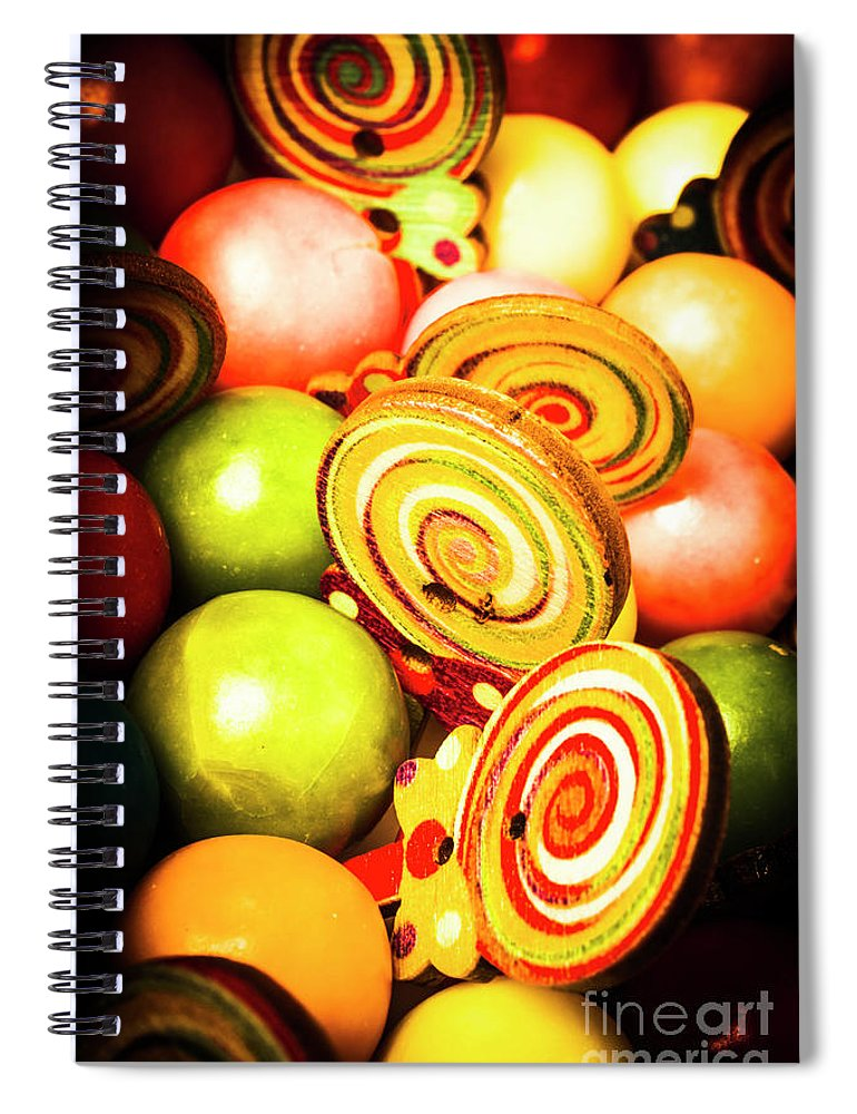 Gumballs Spiral Notebook featuring the photograph Gumdrops And Candy Pops by Jorgo Photography - Wall Art Gallery