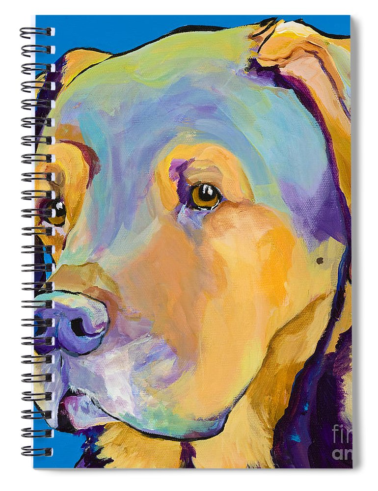 Dog Portrait Spiral Notebook featuring the painting Gunner by Pat Saunders-White