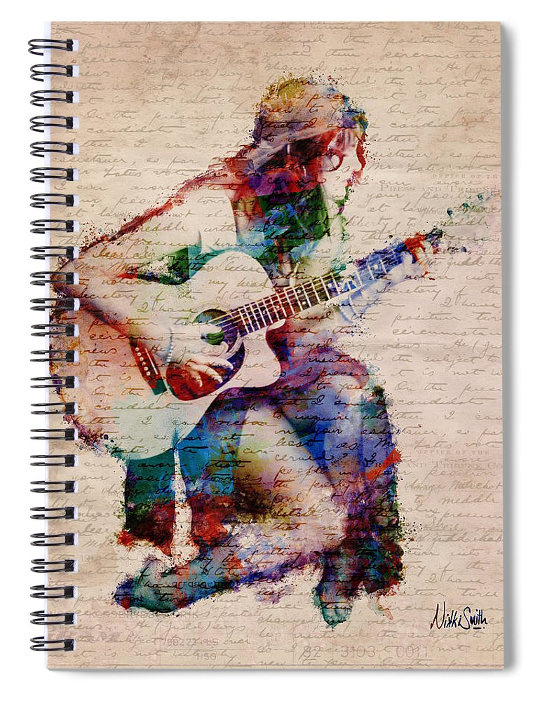 Gypsy Spiral Notebook featuring the digital art Gypsy Serenade by Nikki Smith