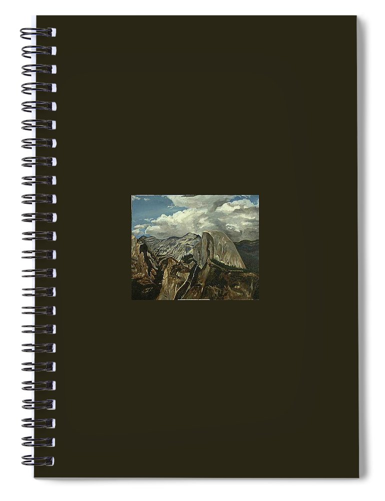 Spiral Notebook featuring the painting Half Dome by Travis Day