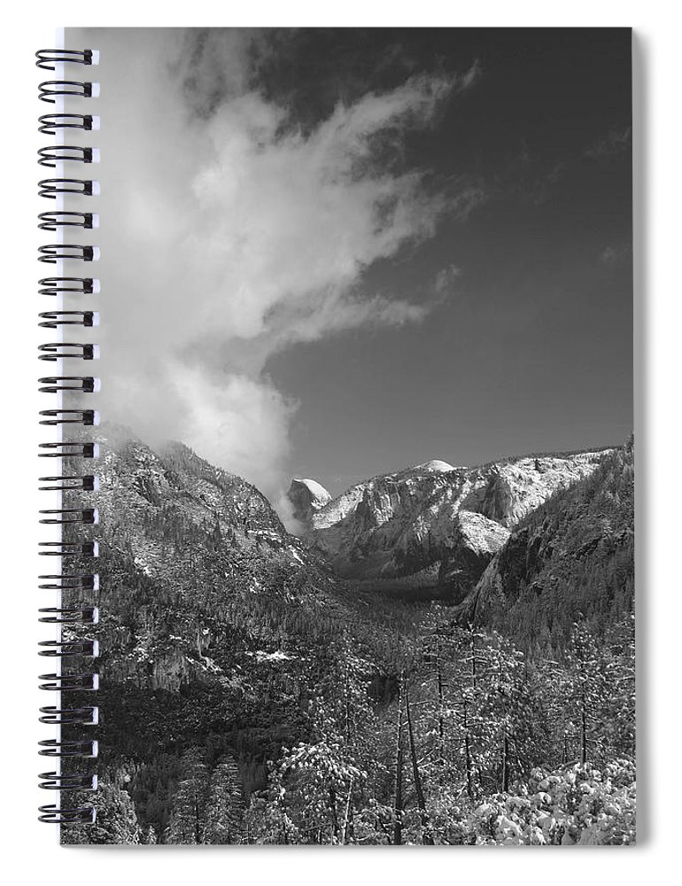 Half Dome Spiral Notebook featuring the photograph Half Dome Winter by Travis Day