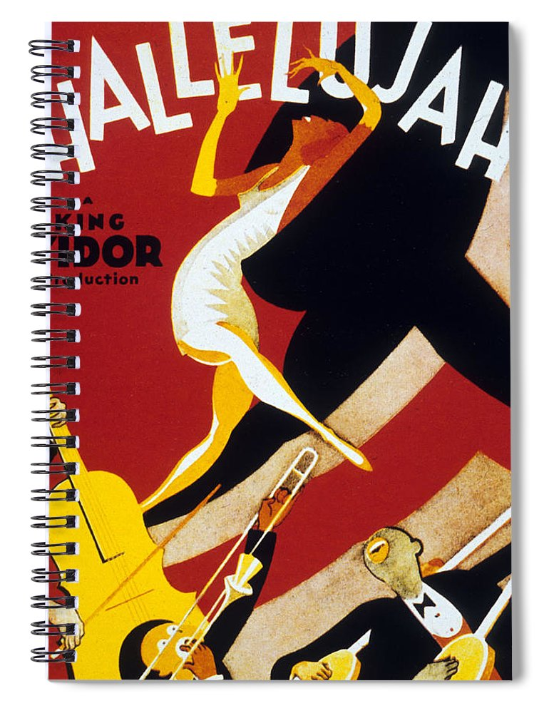 Jazz Spiral Notebook featuring the drawing Hallelujah by American School