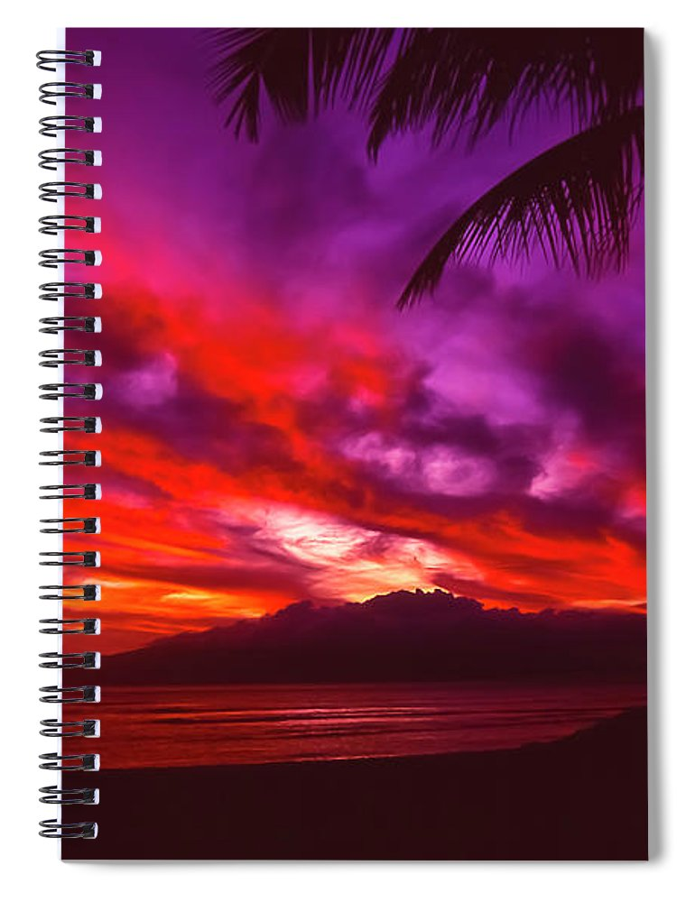 Landscapes Spiral Notebook featuring the photograph Hand of Fire by Jim Cazel