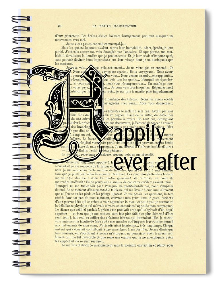 Happily Ever After Spiral Notebook featuring the digital art Happily Ever After by Madame Memento