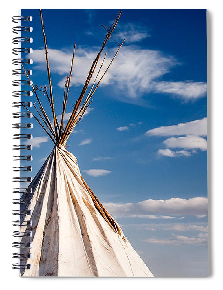 Tipi Spiral Notebook featuring the photograph Hawi Tipi by Todd Klassy
