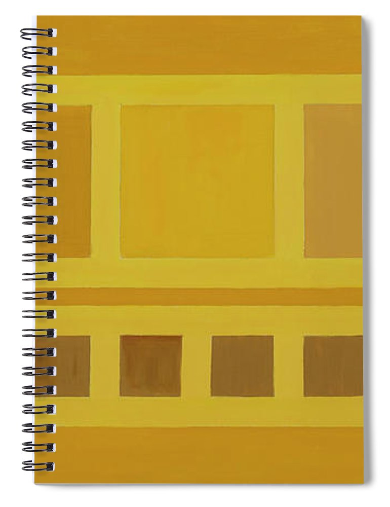 He Tu Spiral Notebook featuring the painting He Tu Earth by Adamantini Feng shui