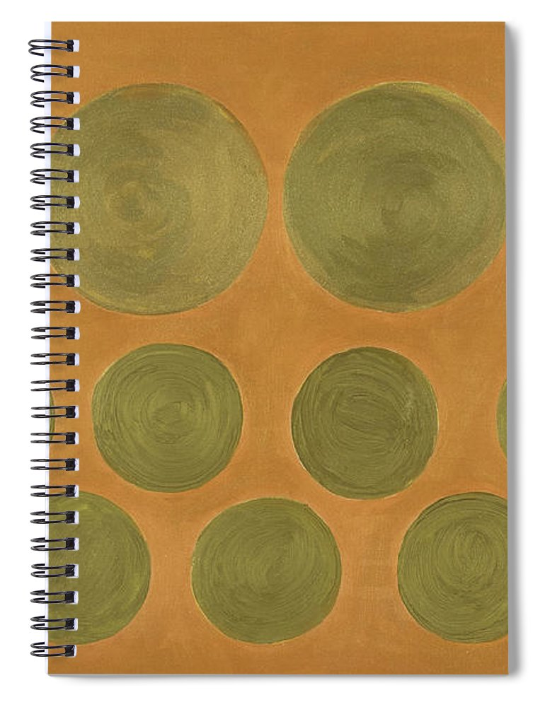 Adamantini Spiral Notebook featuring the painting He Tu Metal by Adamantini Feng shui