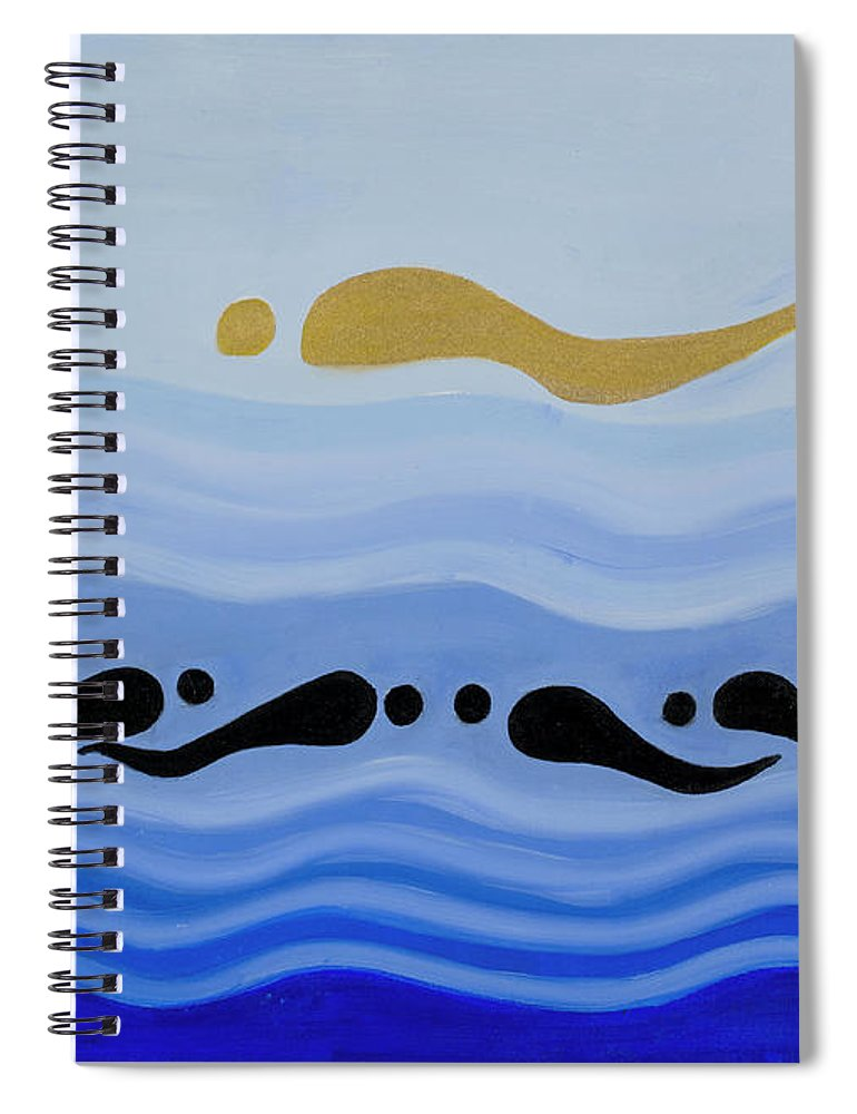 He Tu Water Spiral Notebook featuring the painting He Tu Water by Adamantini