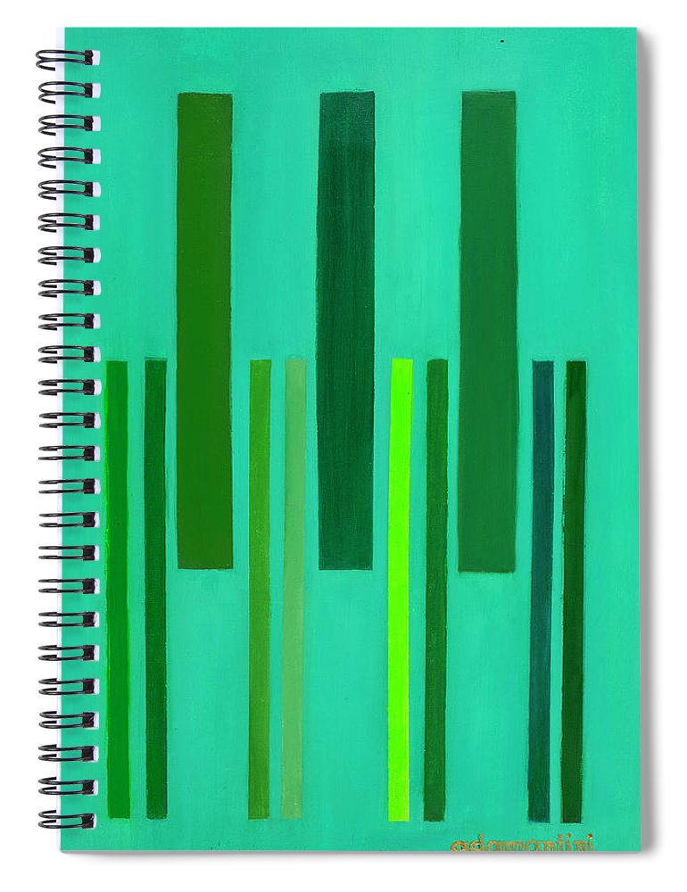 He Tu Spiral Notebook featuring the painting He Tu Wood by Adamantini Feng shui