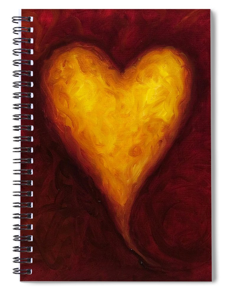 Heart Spiral Notebook featuring the painting Heart Of Gold 1 by Shannon Grissom