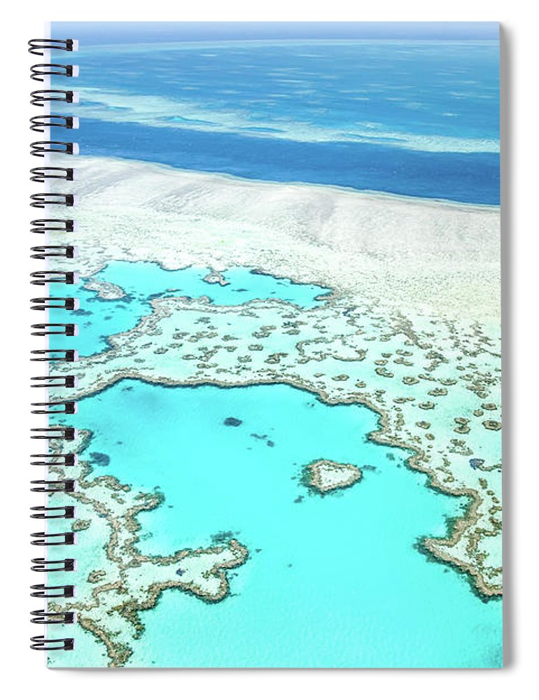 Australia Spiral Notebook featuring the photograph Heart Reef by Az Jackson