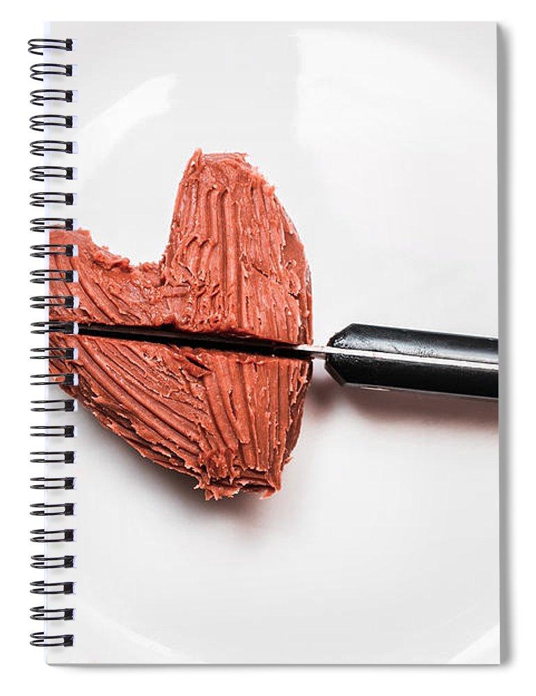 Heartbreak Spiral Notebook featuring the photograph Heartbreak Cake by Jorgo Photography - Wall Art Gallery