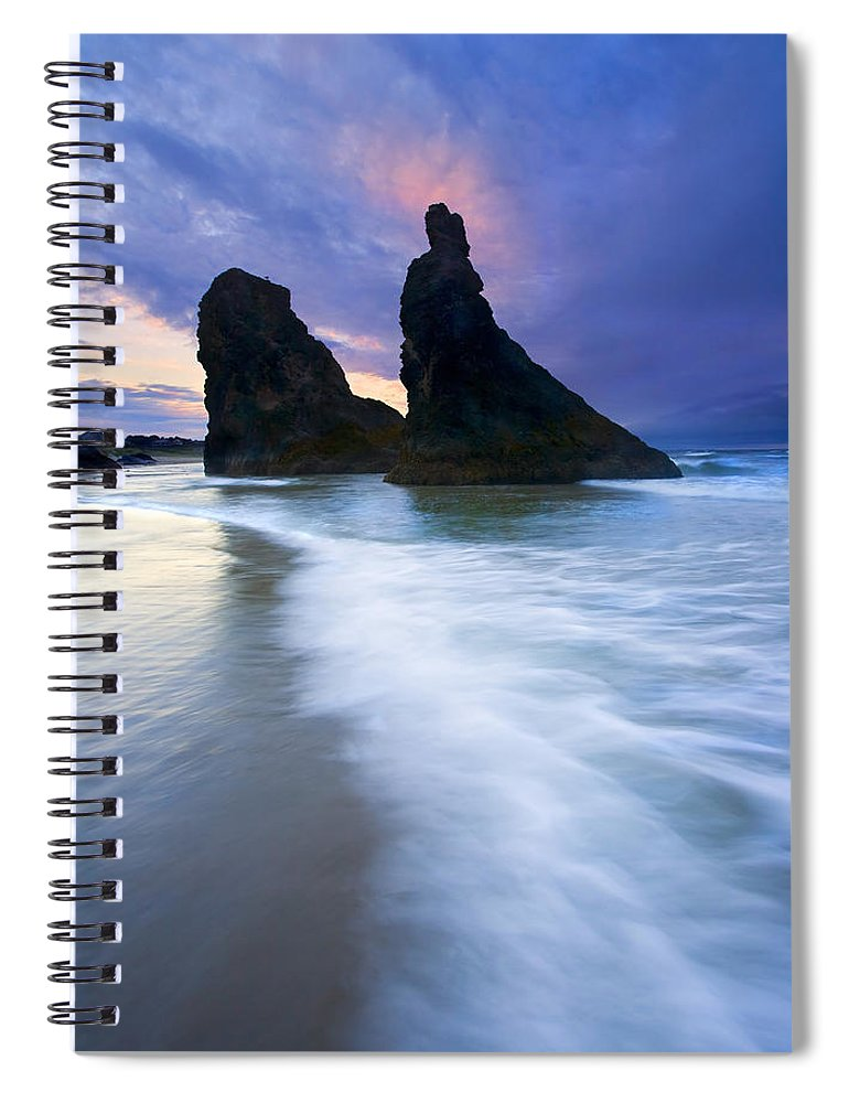Face Rock Spiral Notebook featuring the photograph Heavenly Halo by Mike Dawson