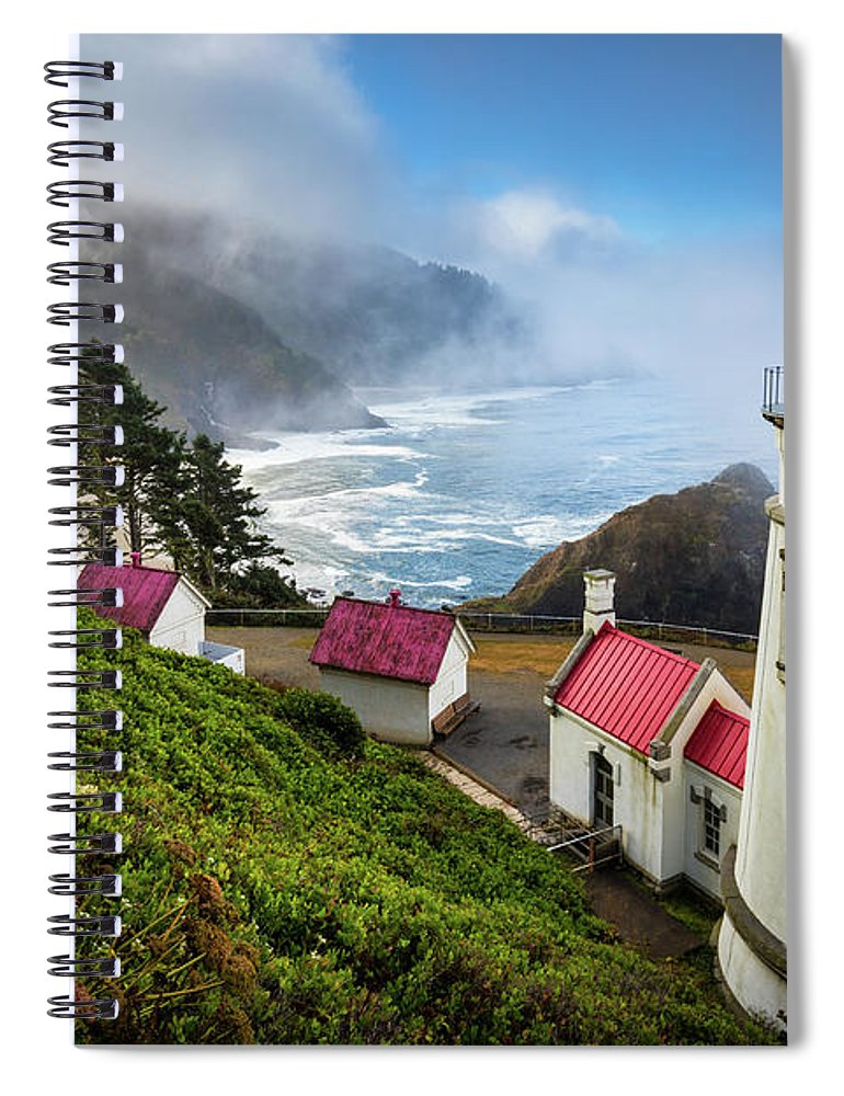 America Spiral Notebook featuring the photograph Heceta Fog by Inge Johnsson