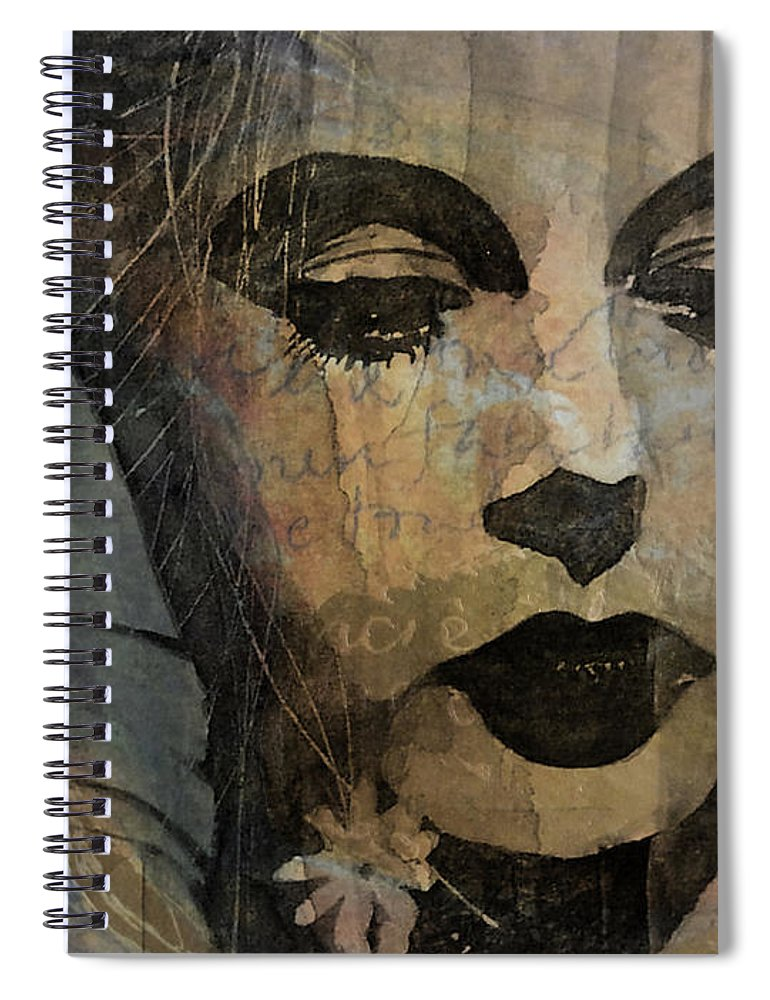 Hedy Lamar Spiral Notebook featuring the mixed media Hedy Lamarr - Only A Woman's Heart by Paul Lovering
