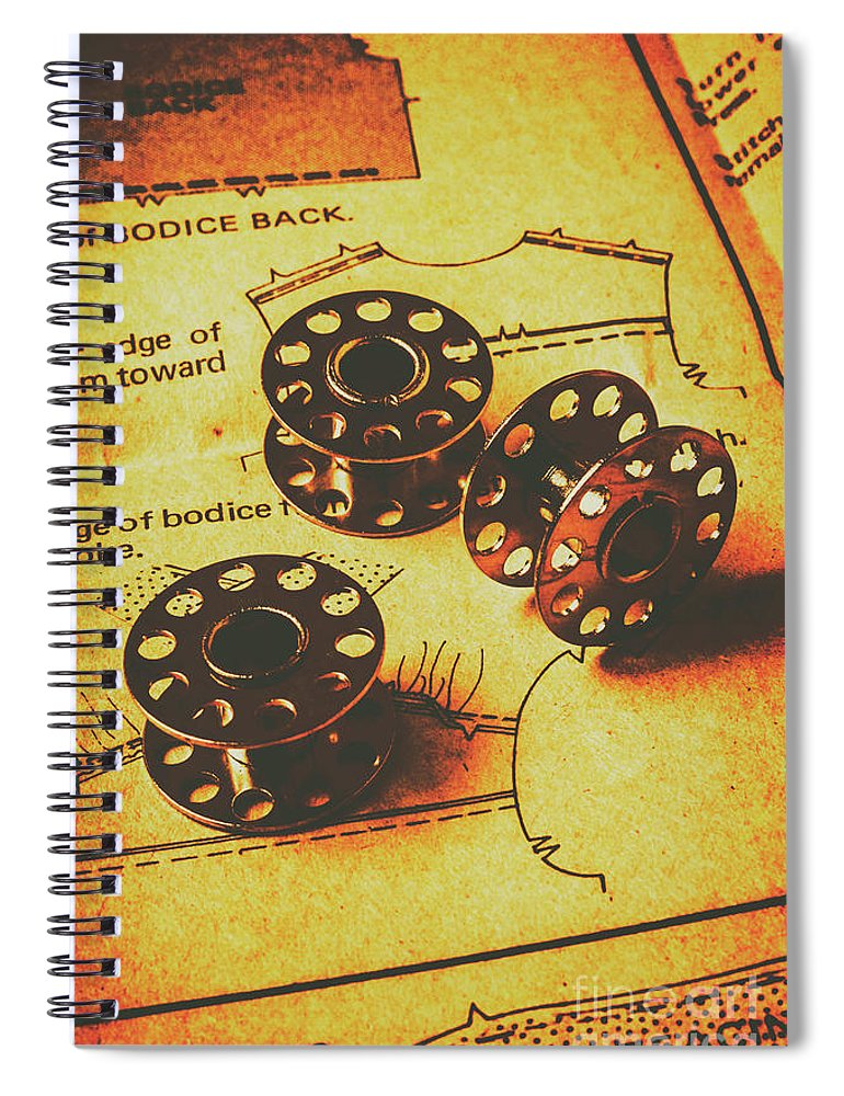 Sewing Spiral Notebook featuring the photograph Hemming From Tradition by Jorgo Photography - Wall Art Gallery