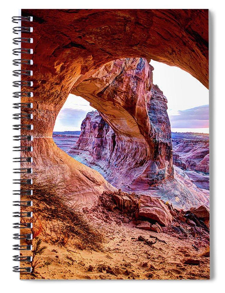 Hidden Spiral Notebook featuring the photograph Hidden Alcove by Chad Dutson