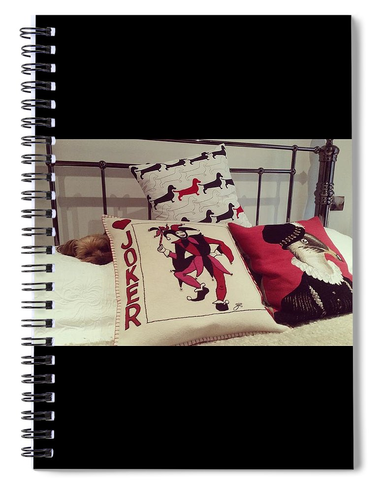 Dog Spiral Notebook featuring the photograph Hiding by Rowena Tutty