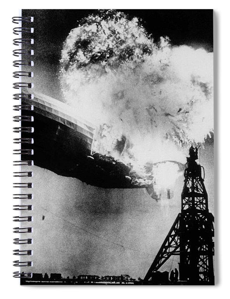 Hindenburg Disaster - Zeppelin Explosion Spiral Notebook