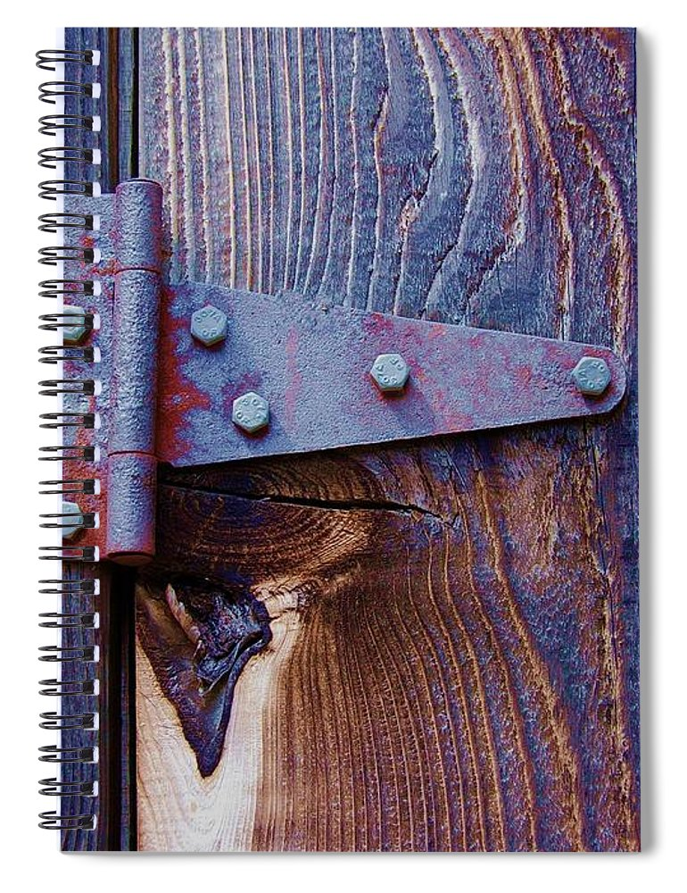 Hinge Spiral Notebook featuring the photograph Hinged by Debbi Granruth
