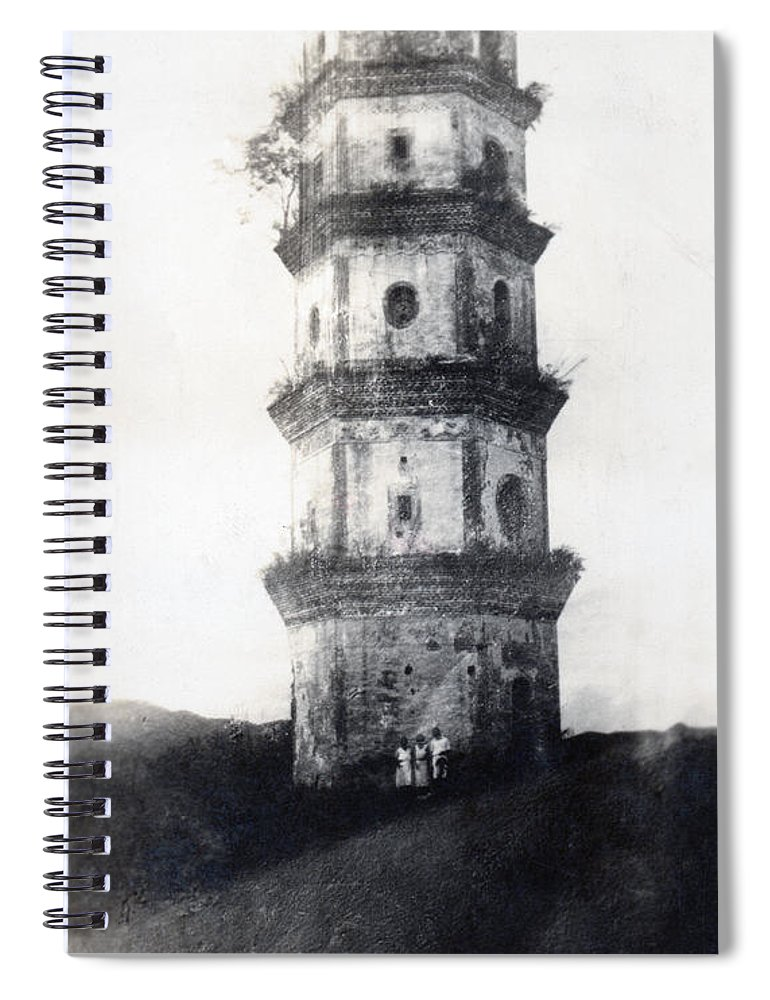 Asia Spiral Notebook featuring the photograph Historic Asian Tower Building by Jorgo Photography - Wall Art Gallery