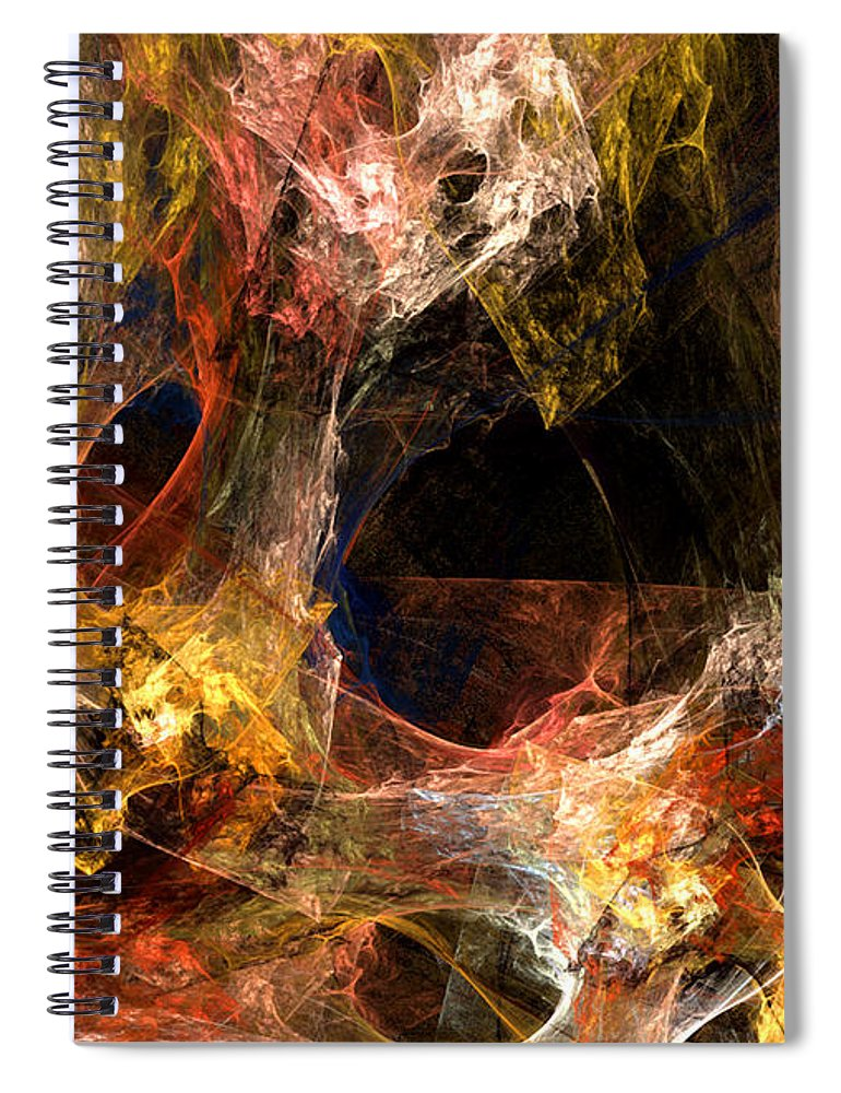 Abstract Spiral Notebook featuring the digital art Holes by Ruth Palmer