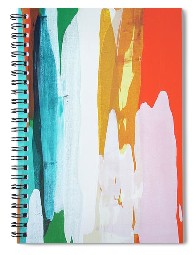 Abstract Spiral Notebook featuring the painting Holiday Everyday by Claire Desjardins