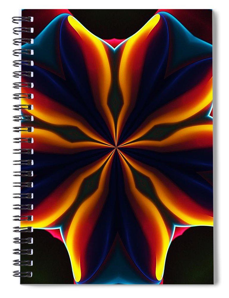 Abstract Spiral Notebook featuring the digital art Homage to Georgia O'Keeffe by David Lane