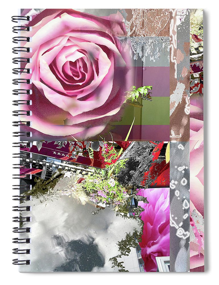 Rose Spiral Notebook featuring the digital art Hope by Ceil Diskin