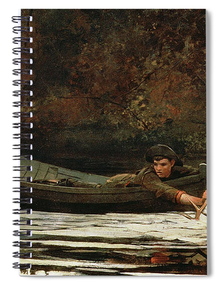 Hound And Hunter Spiral Notebook featuring the painting Hound And Hunter by Winslow Homer