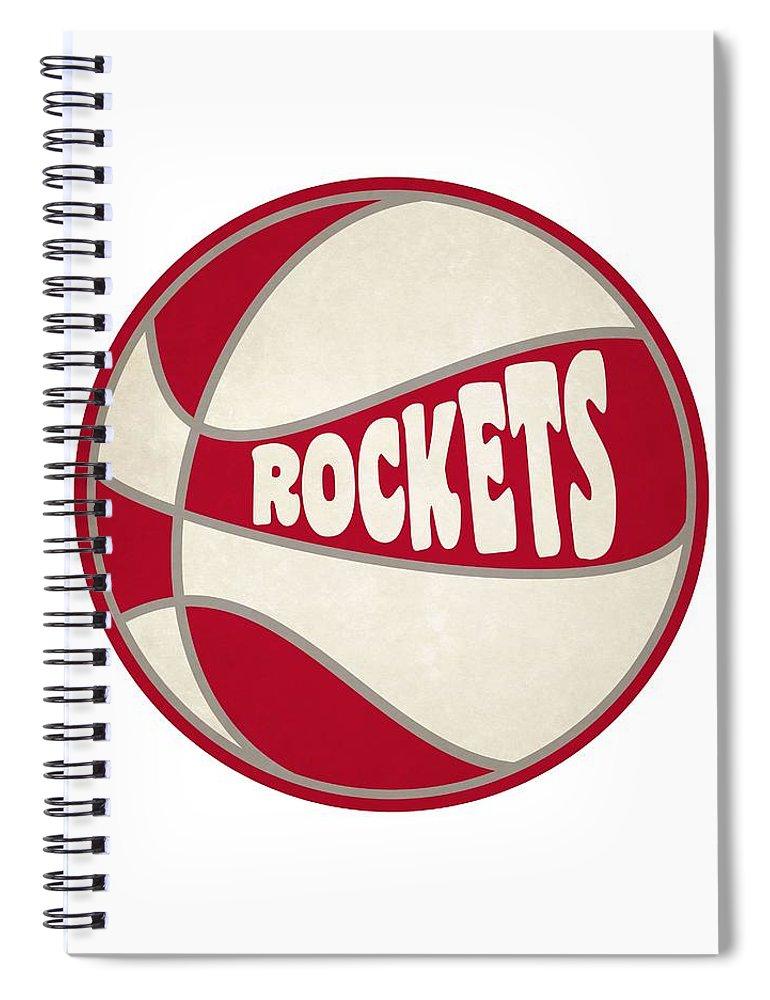 Rockets Spiral Notebook featuring the photograph Houston Rockets Retro Shirt by Joe Hamilton
