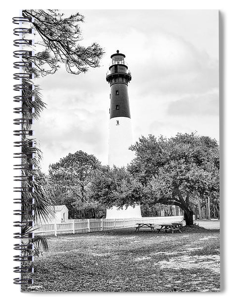 Lighthouse Spiral Notebook featuring the photograph Hunting Island Lighthouse by Scott Hansen