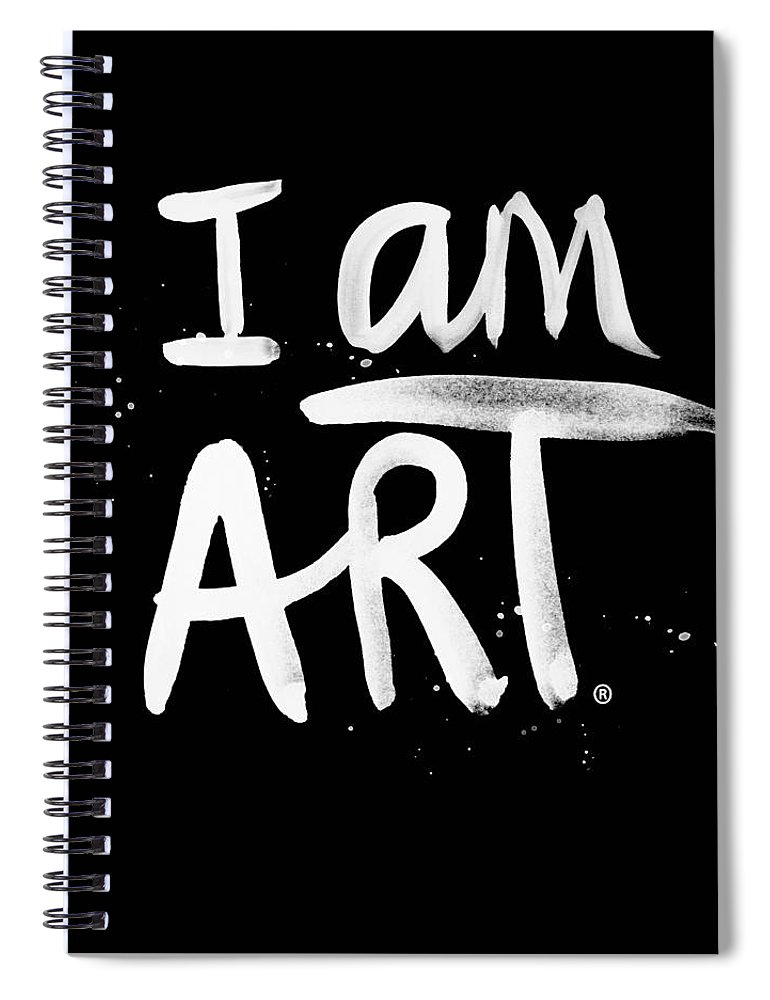 I Am Art Spiral Notebook featuring the mixed media I Am Art- Painted by Linda Woods