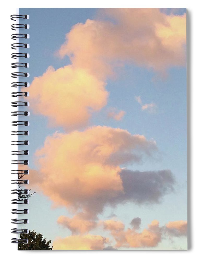 Skies Spiral Notebook featuring the photograph Ice Cream Cloud Cone by Suzanne Udell Levinger