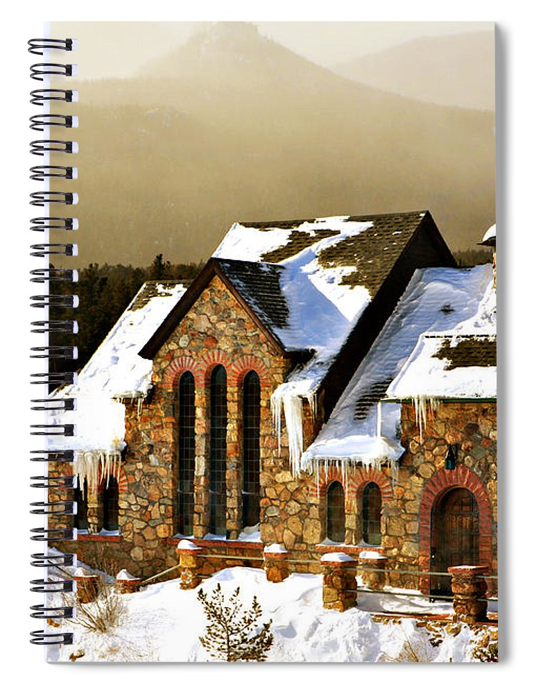 Americana Spiral Notebook featuring the photograph Icicles by Marilyn Hunt