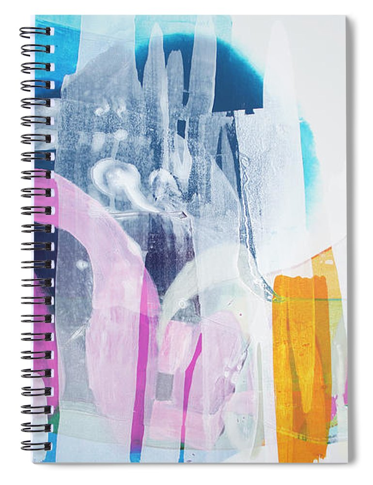 Abstract Spiral Notebook featuring the painting Icing On The Cake by Claire Desjardins