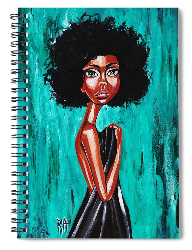 Afro Spiral Notebook featuring the photograph If From Past Sins Ive Been Washed Clean-why Do I Feel So Dirty by Artist RiA