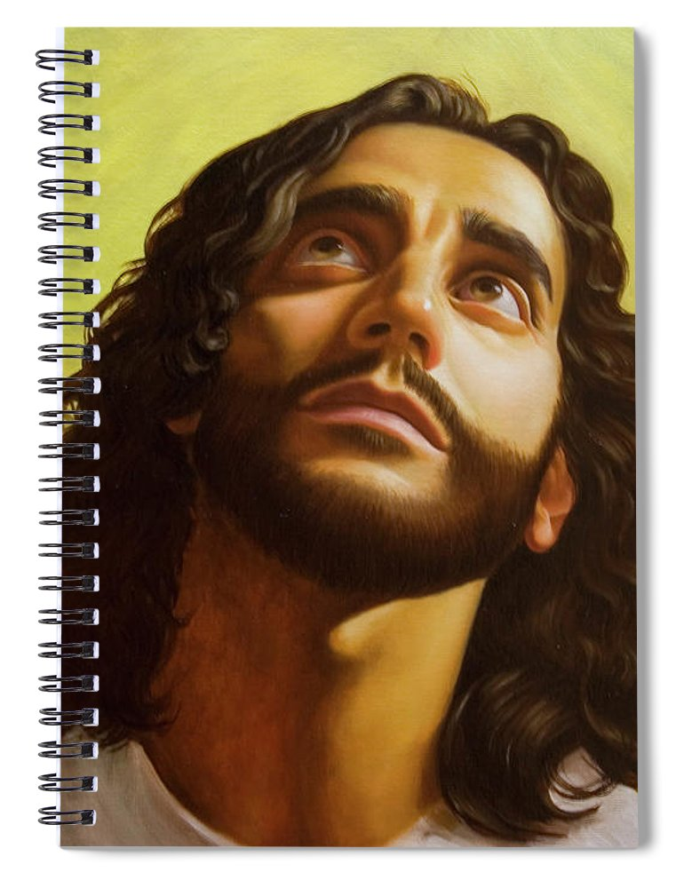 Male Figurative Spiral Notebook featuring the painting Illumination by Gary Hernandez