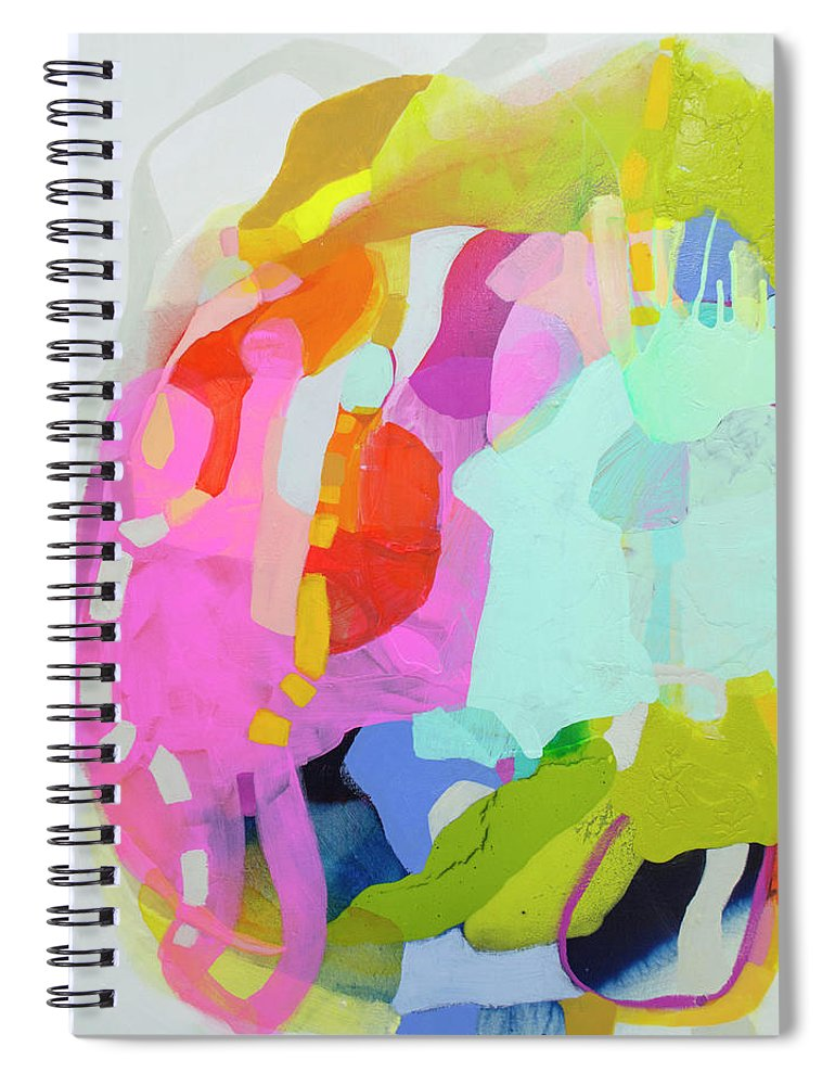 Abstract Spiral Notebook featuring the painting I'm So Glad by Claire Desjardins