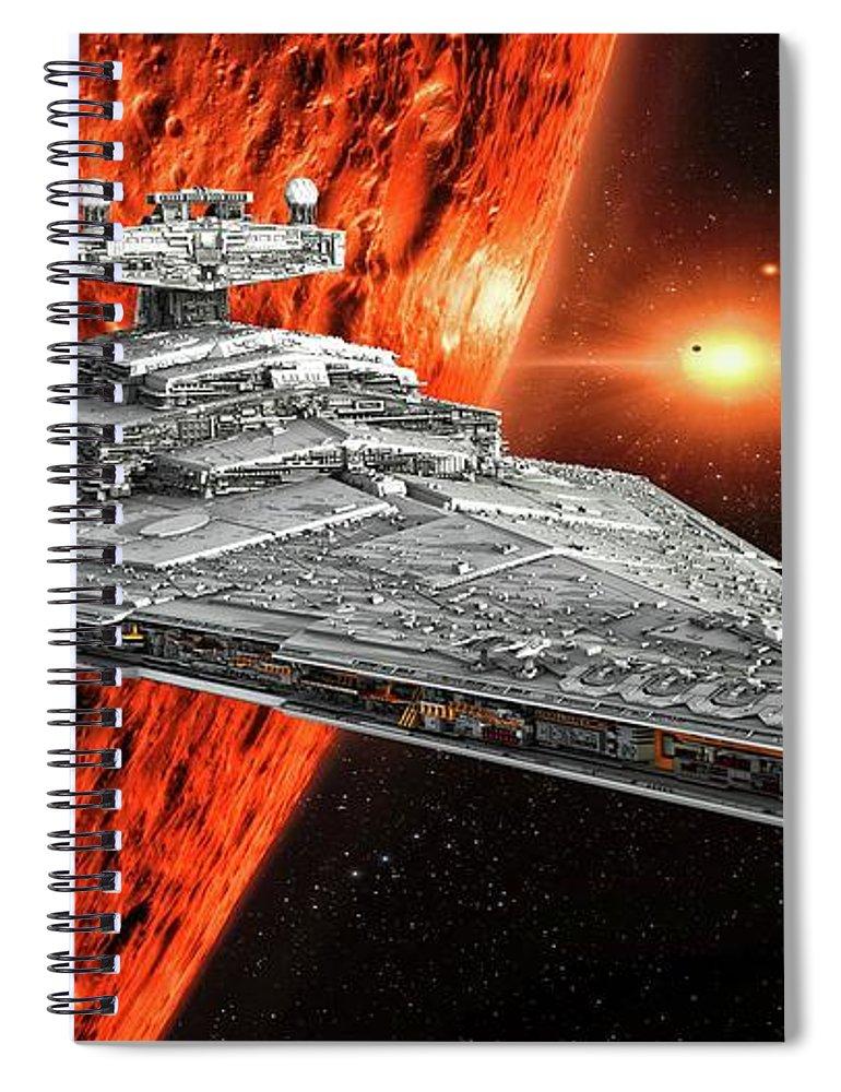 Imperial Star Destroyer Spiral Notebook featuring the digital art Imperial Star Destroyer by Louis Ferreira