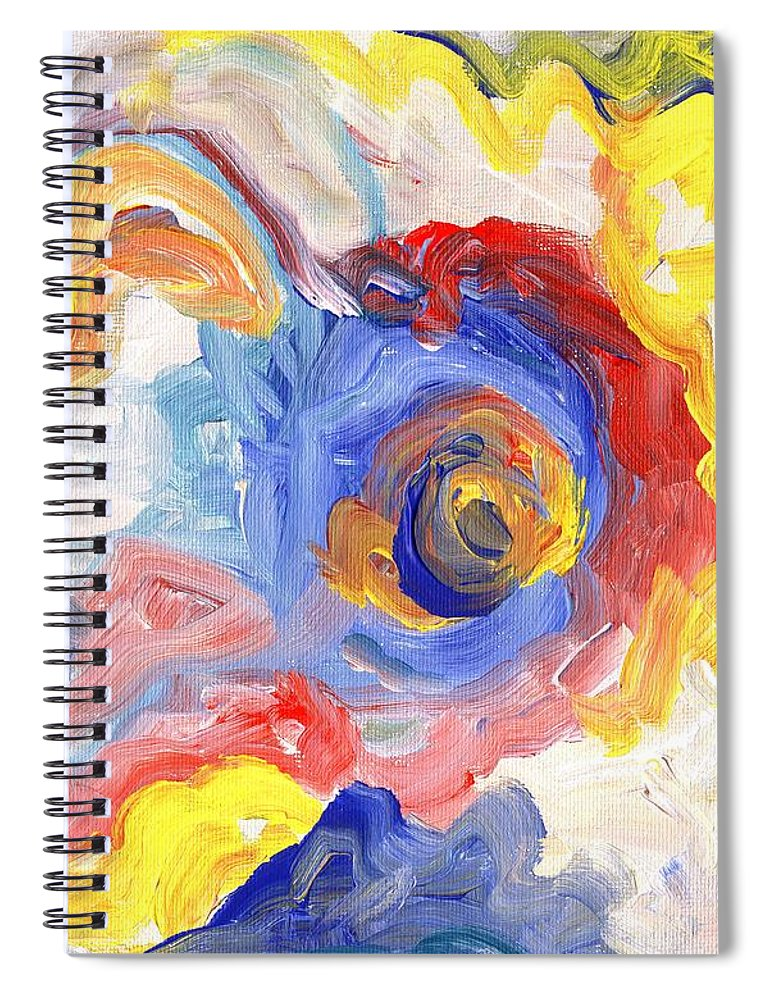 Contemporary Spiral Notebook featuring the digital art Impulse Projected by Linda Mears