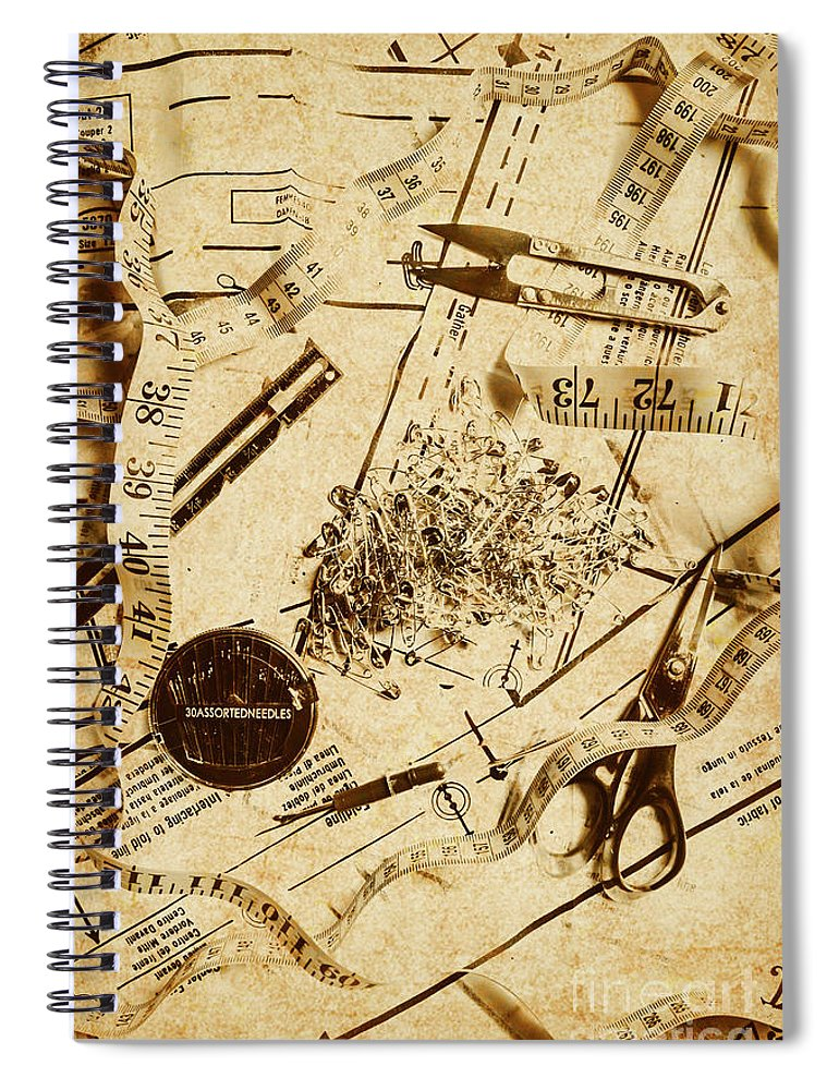 Fashion Spiral Notebook featuring the photograph In Fashion Of Vintage Sewing by Jorgo Photography - Wall Art Gallery