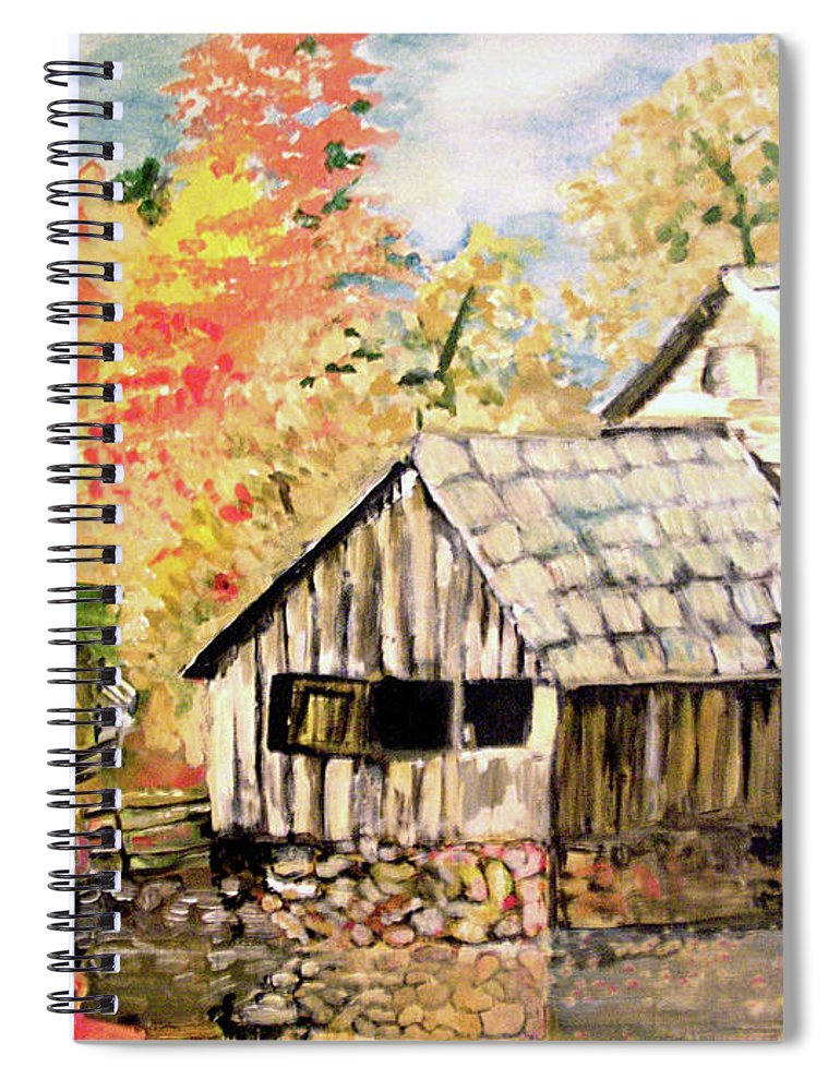In The Quiet Moments Spiral Notebook featuring the painting In The Quiet Moments by Seth Weaver
