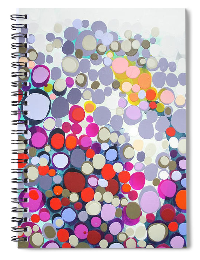 Abstract Spiral Notebook featuring the painting In The Winter by Claire Desjardins