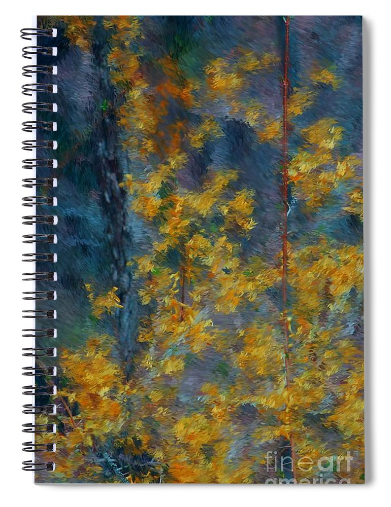 Spiral Notebook featuring the photograph In The Woods by David Lane