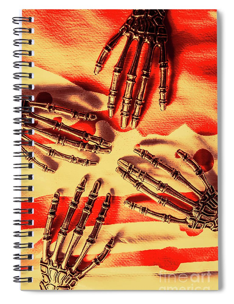 Machine Spiral Notebook featuring the photograph Industrial Death Machines by Jorgo Photography - Wall Art Gallery