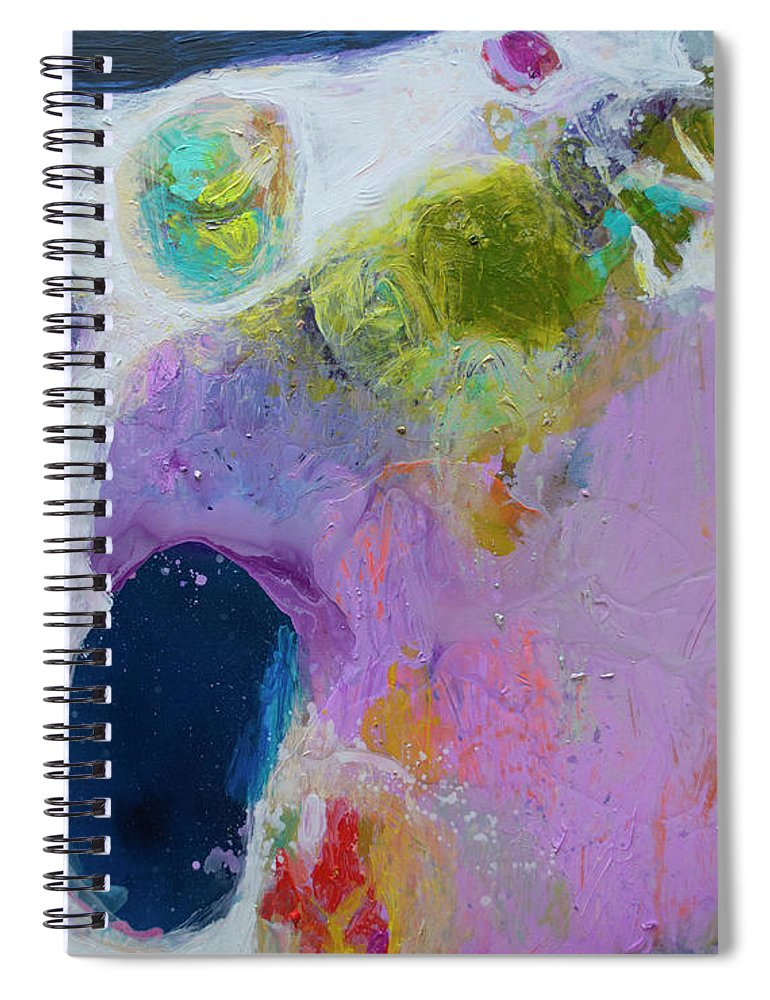 Abstract Spiral Notebook featuring the painting Inherent by Claire Desjardins