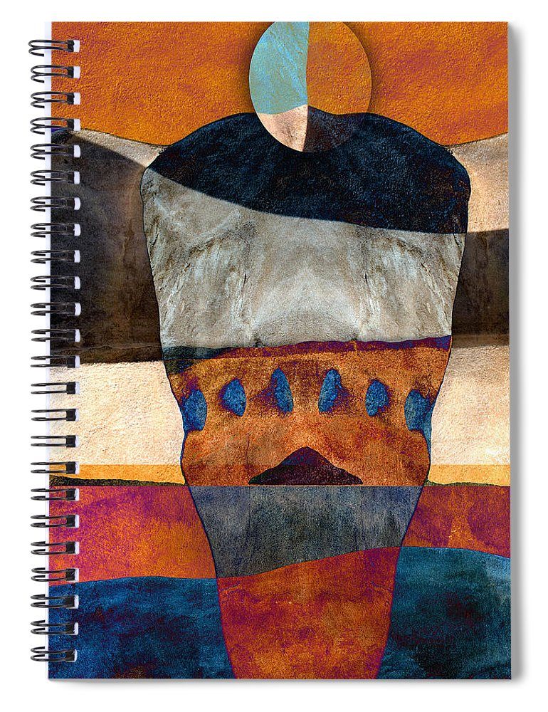 Santa Fe Spiral Notebook featuring the photograph Inherent Number 2 by Carol Leigh